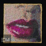 hand stitched tapestry eliot ward art beautiful hotlips